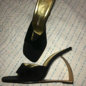 Giuseppe Zanotti Design sz 7.5 UNIQUE black/  gold